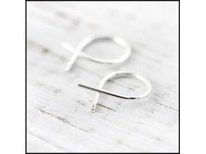 Endless Ribbon Sterling Earrings