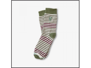 Hippy Feet Socks Olive & Burgundy Striped