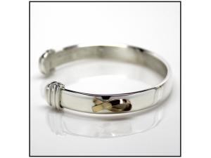 The Bracelet - Sterling Silver with 18K Gold Ribbon