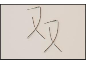 Crossed Ribbon Earrings
