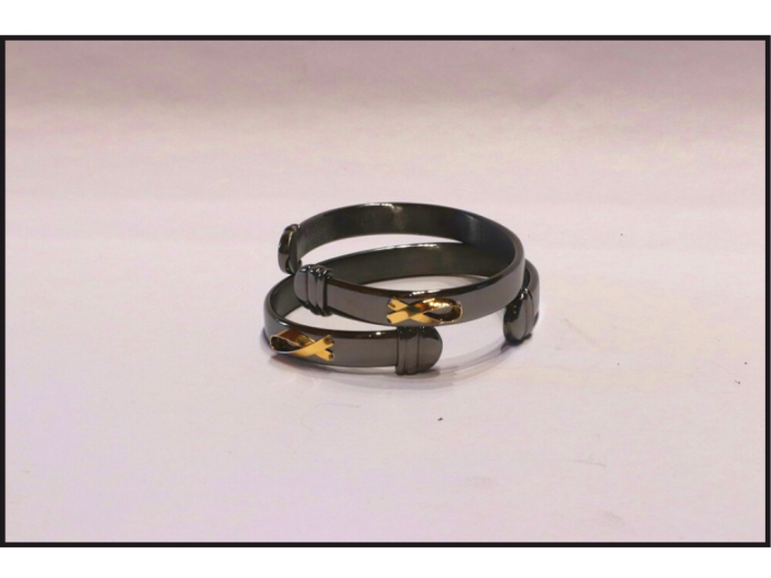 The Bracelet - Black Rhodium with 24K Ribbon