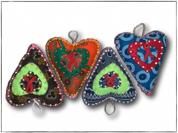 AIDS Loving Heart Ornament
