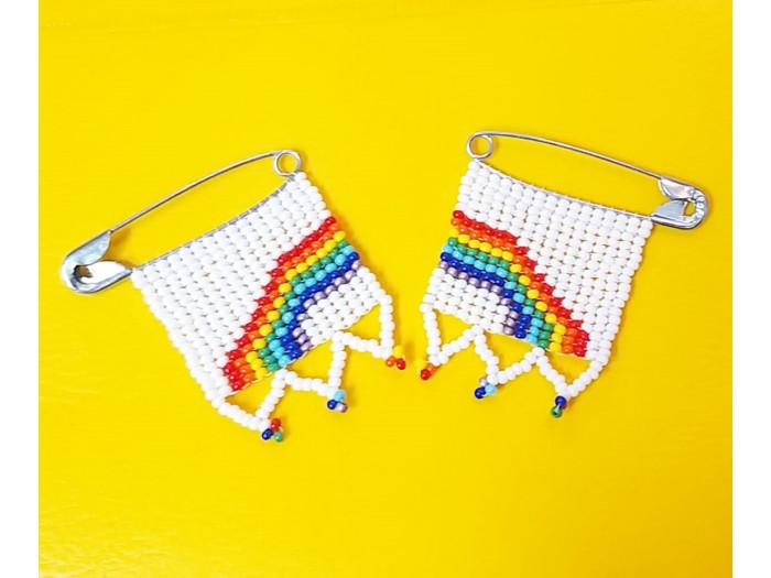 Double Rainbow Pin