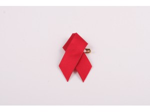 Red AIDS Ribbon Pin