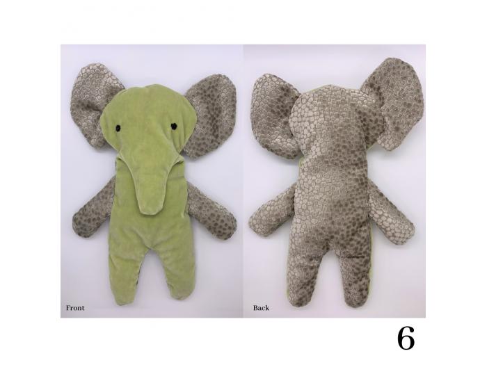 Elliot - Flat Stuffed Elephant