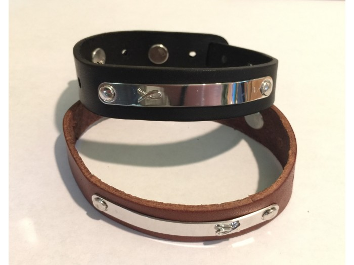 Leather & Sterling Cuff